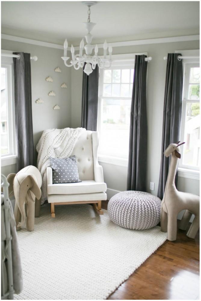 Soft Gray Paint Idea For Boy S Nursery Room