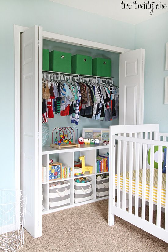 nursery built in closet idea