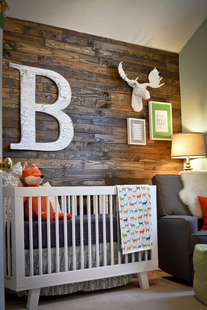 baby themed rooms. boy\u0027s woodland nursery room idea baby themed rooms