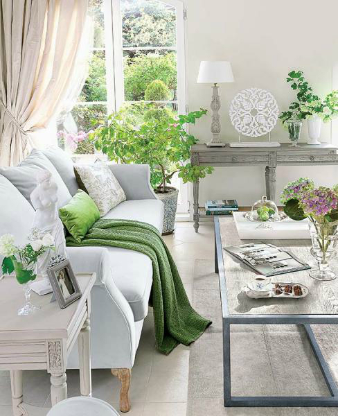 bright living room ideas. light gray and green living room design idea 10 Bright Ideas For Your Home  Decoholic