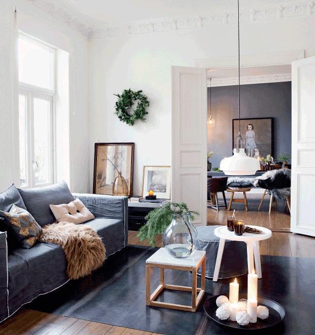 dramatic Scandinavian casual style interior