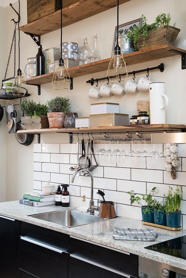 most pinned kitchen open shelves image