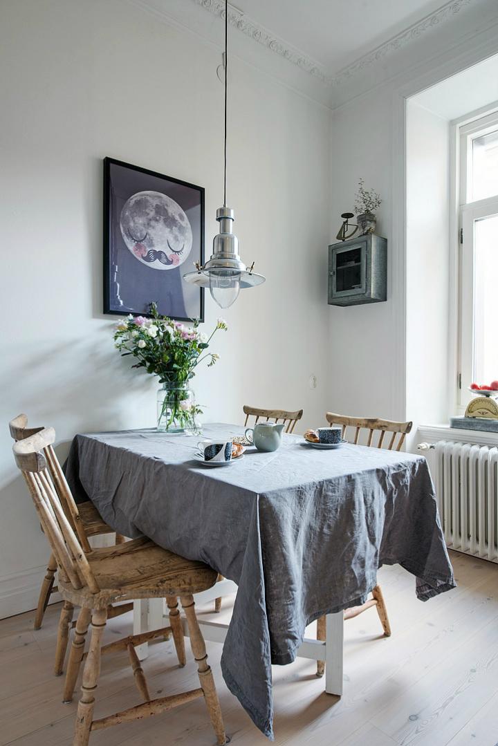 Lightful and Fresh Scandinavian modern Apartment interior 20