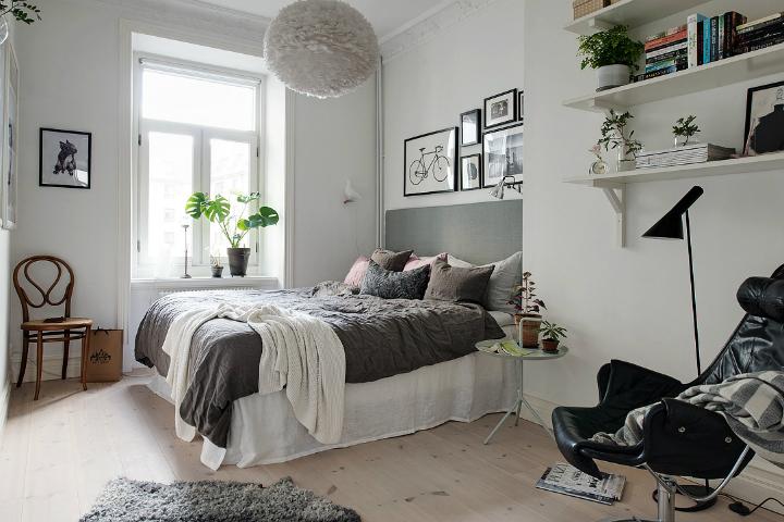 Lightful and Fresh Scandinavian modern Apartment interior 21