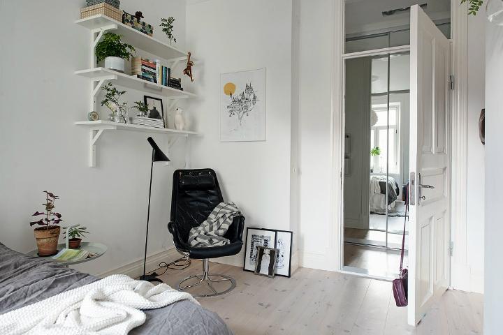 Lightful and Fresh Scandinavian modern Apartment interior 25