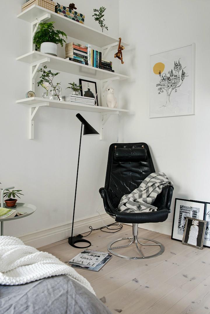Lightful and Fresh Scandinavian modern Apartment interior 26