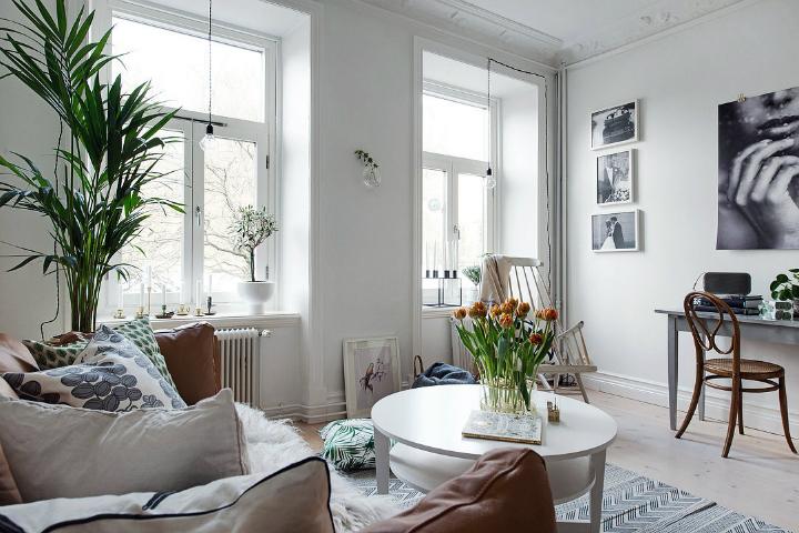 Lightful and Fresh Scandinavian modern Apartment interior 4