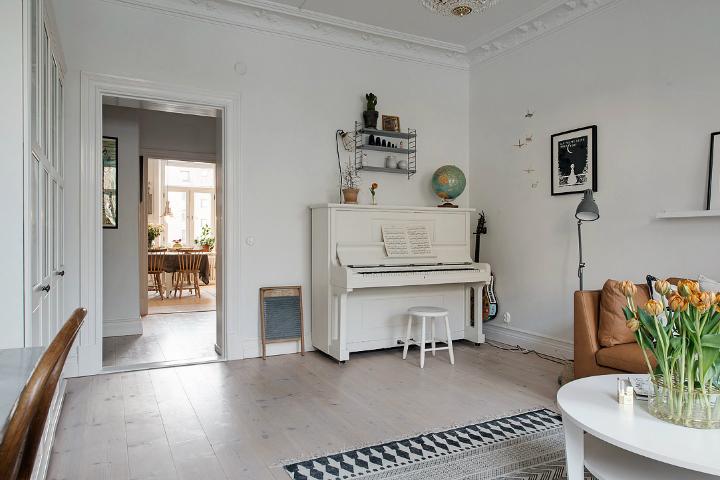 Lightful and Fresh Scandinavian modern Apartment interior 6