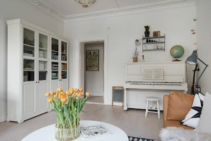 Lightful and Fresh Scandinavian modern Apartment interior 7