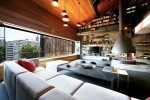 metal contemporary bachelor pad loft interior