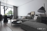 contemporary minimalist interior decorated with shades of gray 2