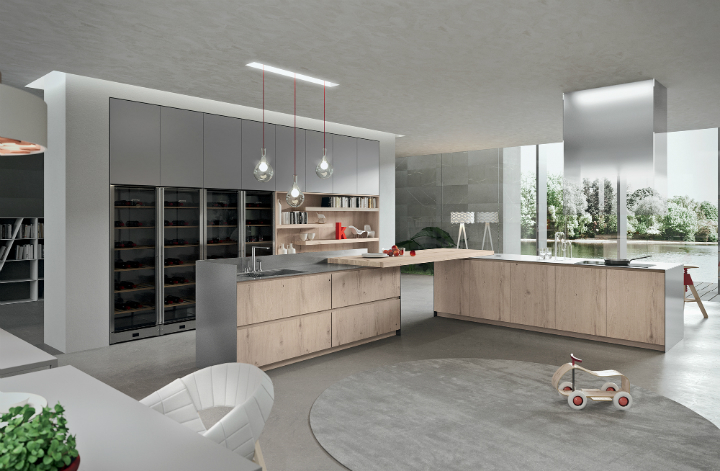 Contemporary Kitchen which Combines Planning Flexibility Technology and New Materials 13