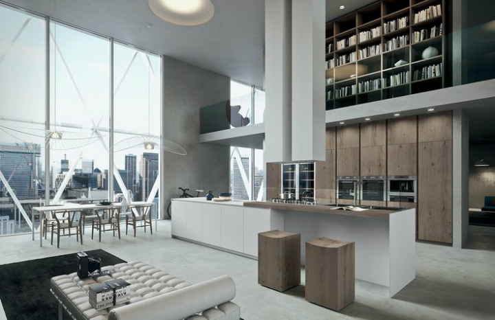 Contemporary Kitchen which Combines Planning Flexibility Technology and New Materials 2
