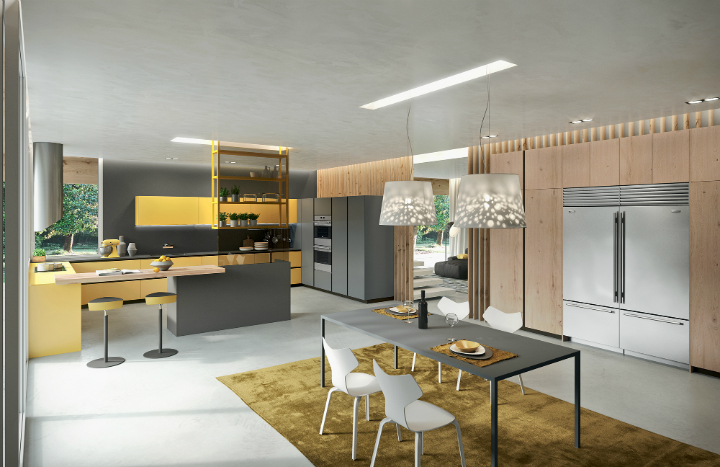 Contemporary Kitchen which Combines Planning Flexibility Technology and New Materials 8