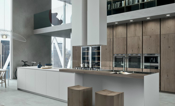 Contemporary Kitchen which Combines Planning Flexibility Technology and New Materials