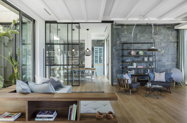 contemporary house interior with Shades Of Blue3