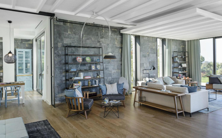 contemporary house interior with Shades Of Blue4