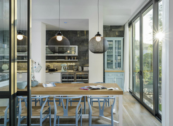 contemporary house interior with Shades Of Blue6