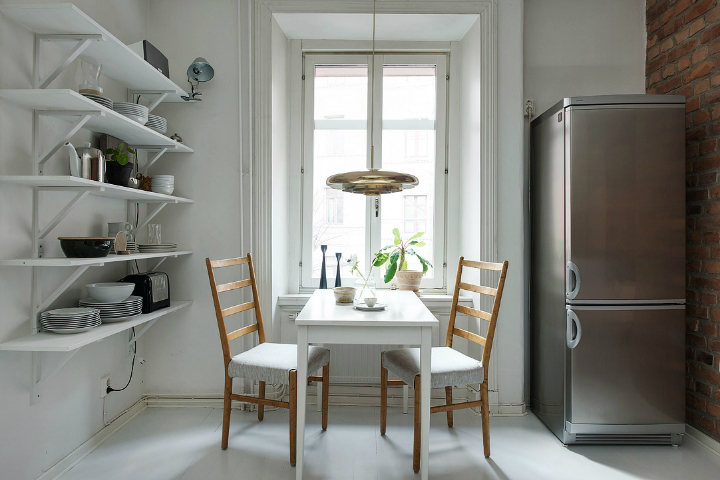 Scandinavian home interior with High-Gloss Finish 23