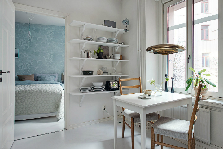 Scandinavian home interior with High-Gloss Finish 7