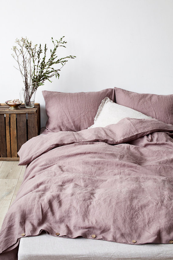 A luxurious, naturally breathable linen is timeless to work in any bedroom. High quality bed linen duvet cover provide year-round comfort, elegance, and simplicity
