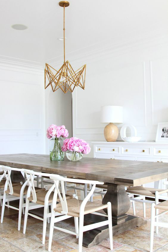 modern unique gold brass chandelier