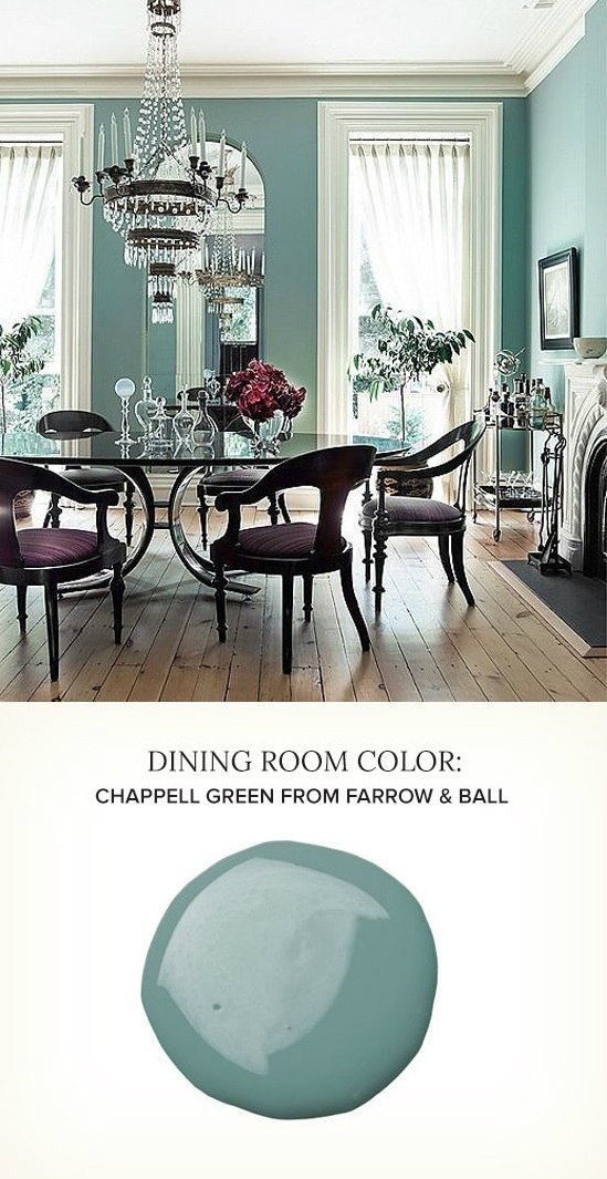 best green blue paint color for dining room