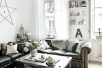 white bohemian living room