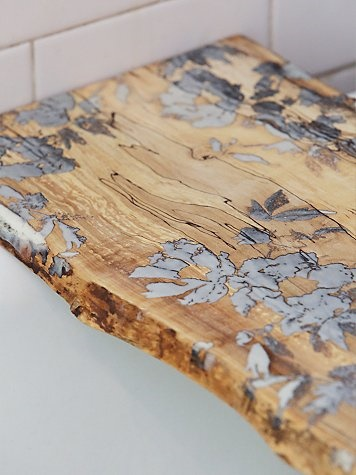 Boho Chic Flower Pressed Tub Board 2