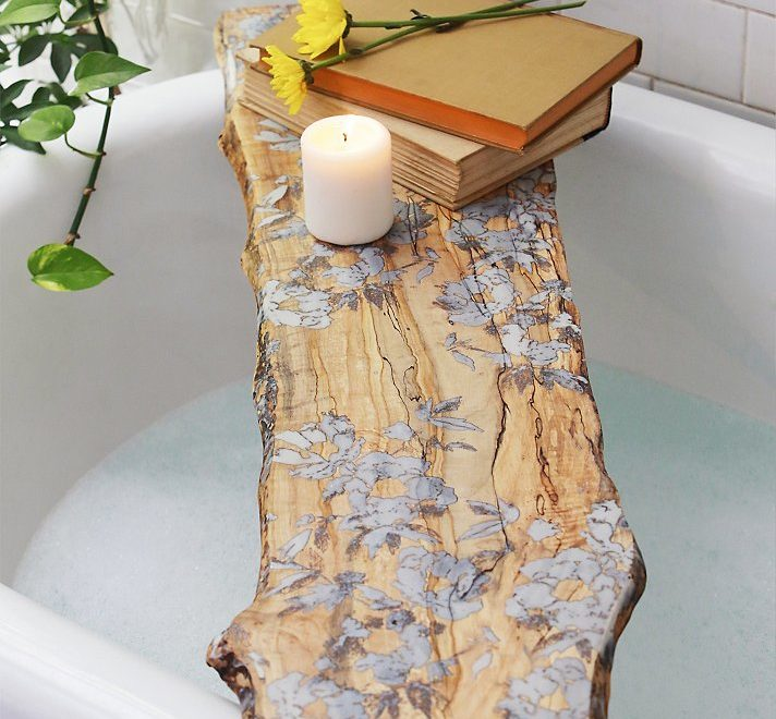 Boho Chic Flower Pressed Tub Board