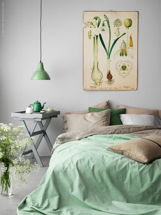 Pastel Green Bedroom Décor Idea