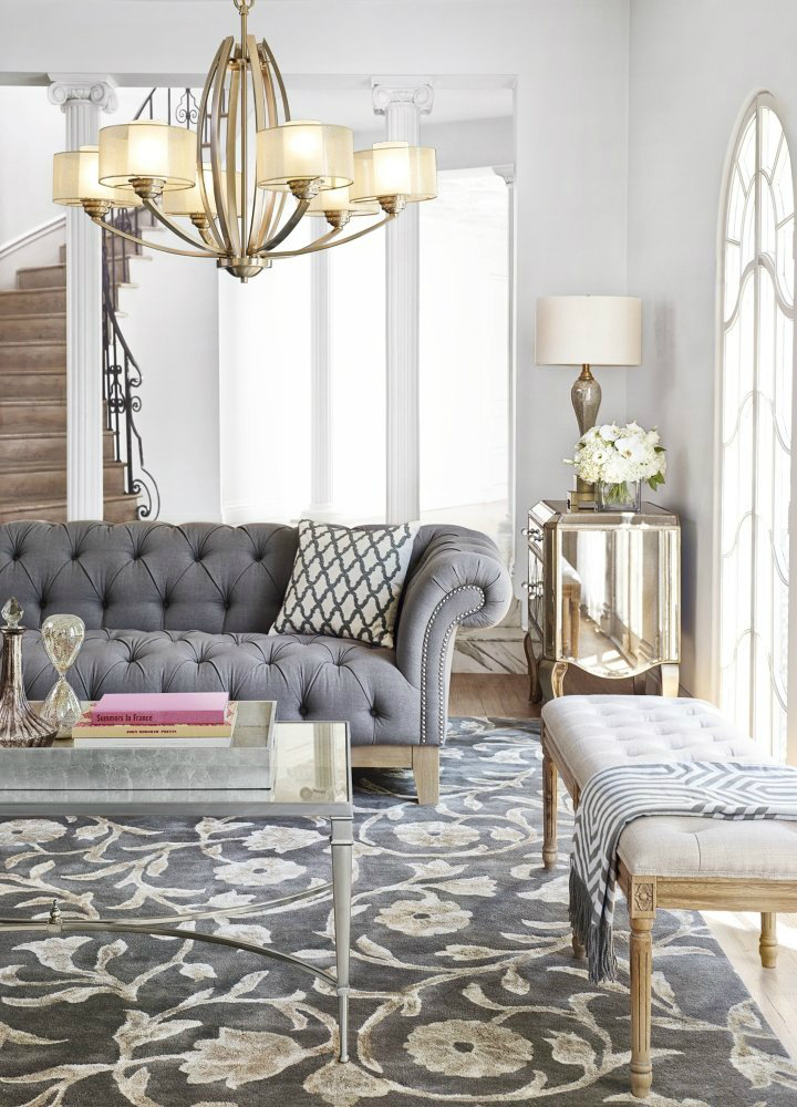 11 spring decorating trends to look out decoholic for Living room gray couch