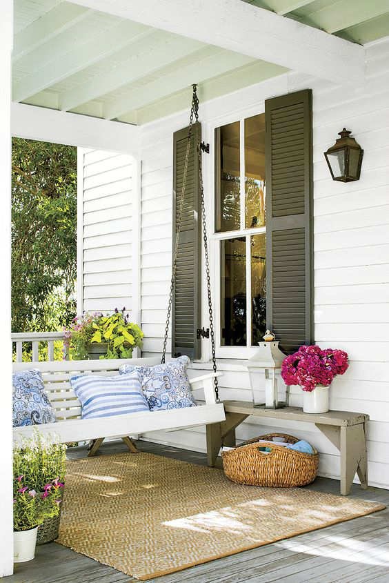 porch outdoor spring decor