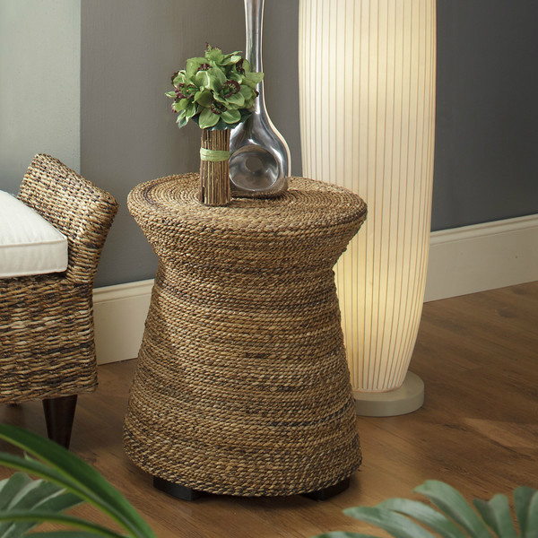 Seat stool table made of rope