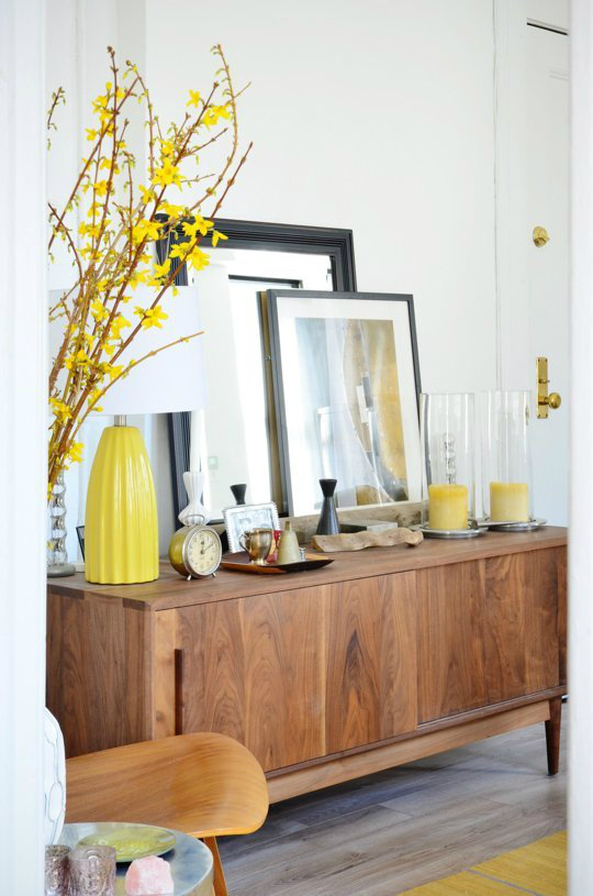 yellow mimosas decoration