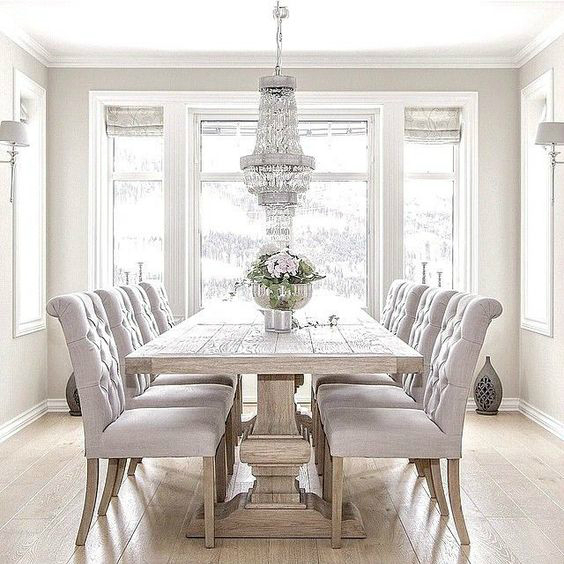 11 spring decorating trends to look out decoholic for Formal dining room table decorating ideas