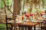 bohemian chic outdoor dinner party decoration