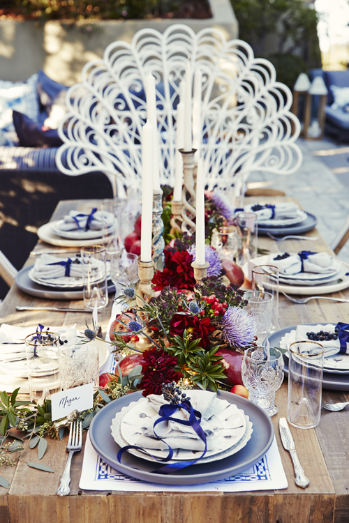 bohemian chic outdoor dinner party decoration 19