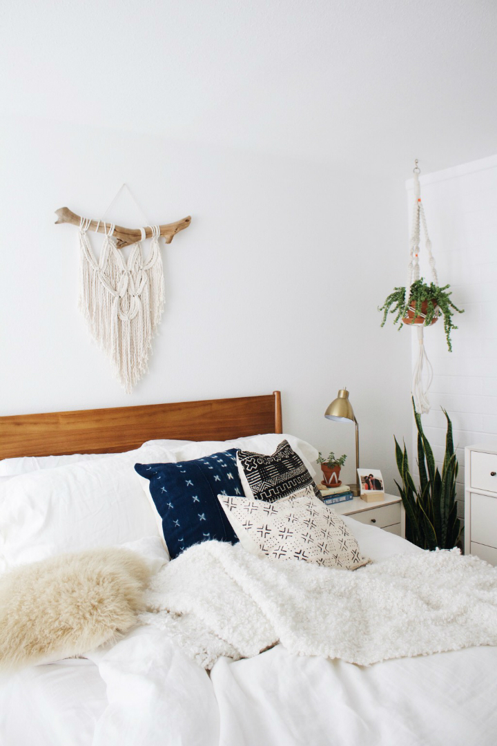 Modern Boho Bedroom White