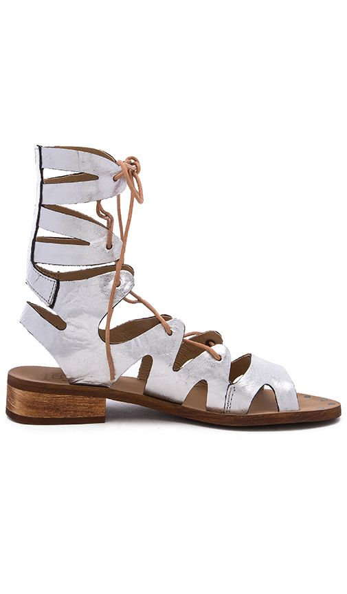 silver leathe greek sandals Metallic leather upper with man made sol