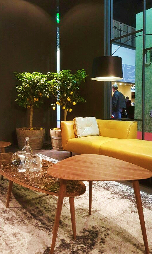 max divani yellow leather sofa salone del mobile 2016