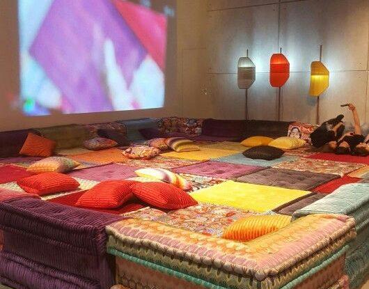 roche bobois huge sofa salone del mobile 2016