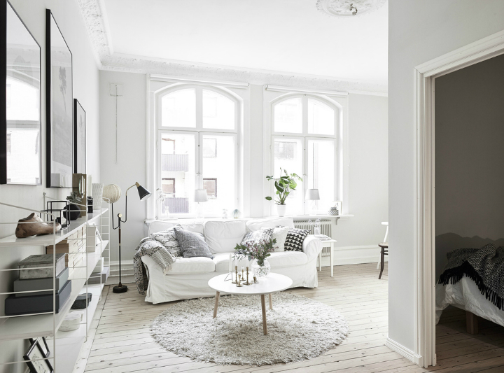 Scandinavian stylish apartment interior design idea 2