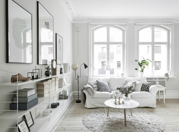 Scandinavian stylish apartment interior design idea