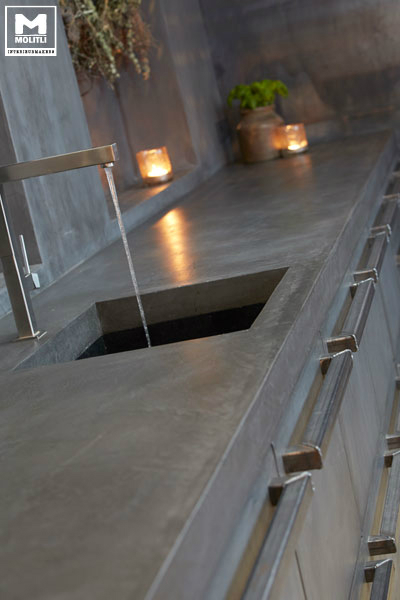 Concrete Kitchen Design 12