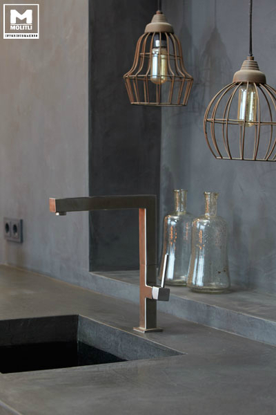 Concrete Kitchen Design 14