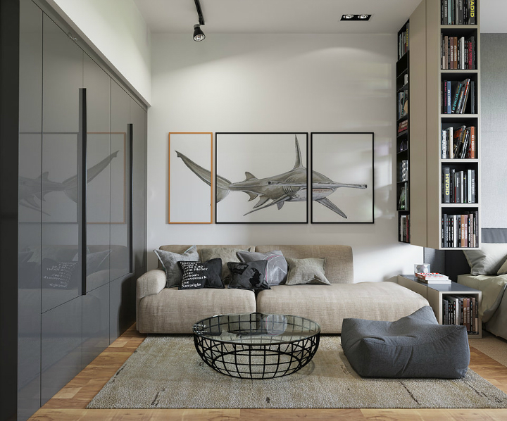 contemporary minimalistic interior design
