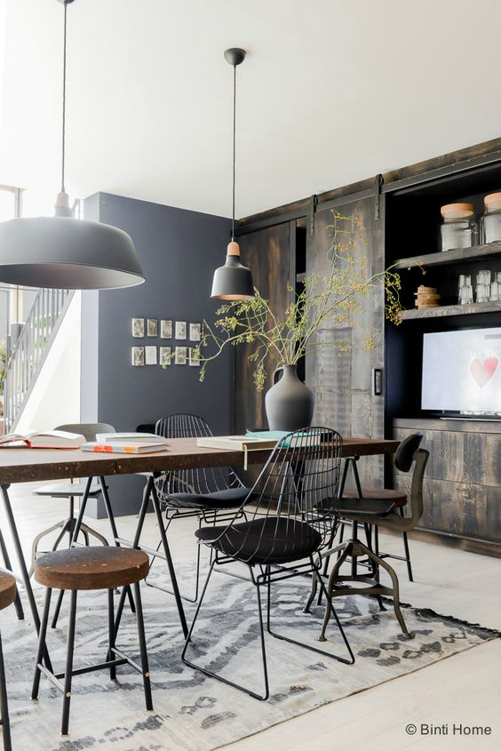 Simple Dining Room Design: How To Create An Industrial Dining Room