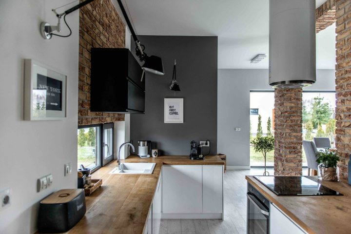 Nordic gray modern home interior design 10
