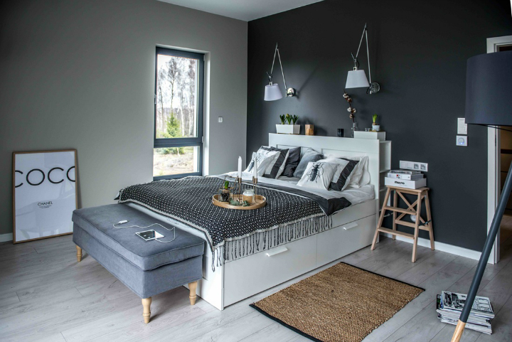 Nordic gray modern home interior design 14
